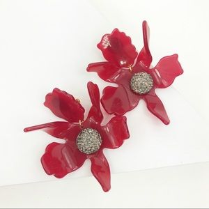 Lele Sadoughi Jewelry - LELE SADOUGHI | Crystal Lily Earrings In Raspberry
